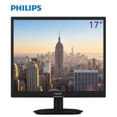 飞利浦(PHILIPS) 19S4QAB 19 英寸宽视角内置扬声器不闪屏电脑显示器黑色