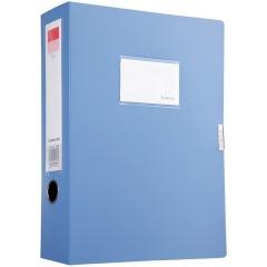 齐心(COMIX)A1250 PP A4/75mm档案盒/资料盒 黑色75mm 蓝色 其它