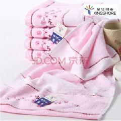 金号 G1462WH 毛巾/面巾/方巾粉色 一条 单条装 G1462WH