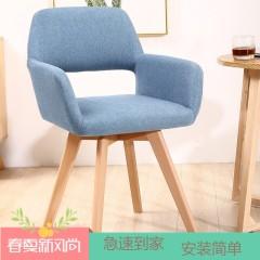 圣昂  SA-XXY-001 休闲椅 伊姆斯实木脚布休闲椅