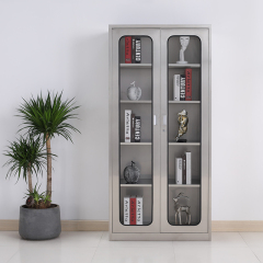 圣昂  BXG-011 不锈钢文件柜资料柜储物柜档案柜中二斗 304 通玻