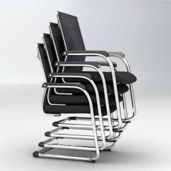 圣昂  BGY-001 办公椅黑色弓形架网布椅子可叠摞 其它 黑色(一包6个)