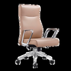 圣昂 1708 班椅/老板椅牛皮转椅 黑色科技皮