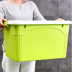 加厚款塑料收纳箱整理储物箱 青草绿