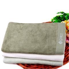 洁丽雅/grace 6414 洁丽雅竹纤维绣花美容浴巾 纯色 绿色 单条装
