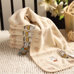 金号/KING SHORE MF1026WH 米菲纯棉卡通毛巾 1 滑雪/蓝 二条装