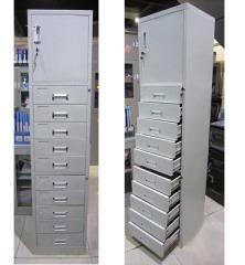 杭达/HD HD-W-06十斗财务文件柜整理柜 灰白 0.8mm