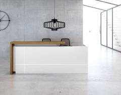 杭达/HD HD-BGZ88-前台接待桌收银台办公桌1.8米/2.4米 1800*600*1050 实木颗粒 人造板