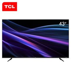 TCL 43P6 43英寸4K金属超窄边64位32核HDR人工智能LED液晶电视 黑